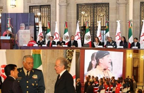 MARIO MARIN EN PALACIO NACIONAL