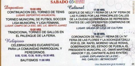 SABADO 3 DE MARZO.